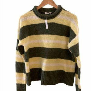MADEWELL Striped Fulton Pullover Sweater; Size S.